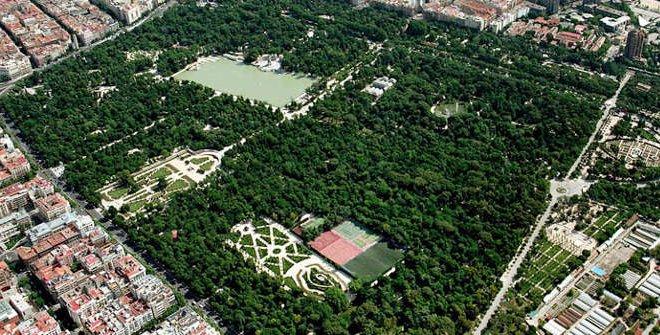 El parque de el Retiro en madrid