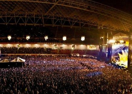 concierto en un estadio