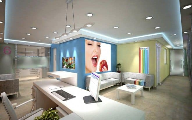 sala de espera de clinica dental