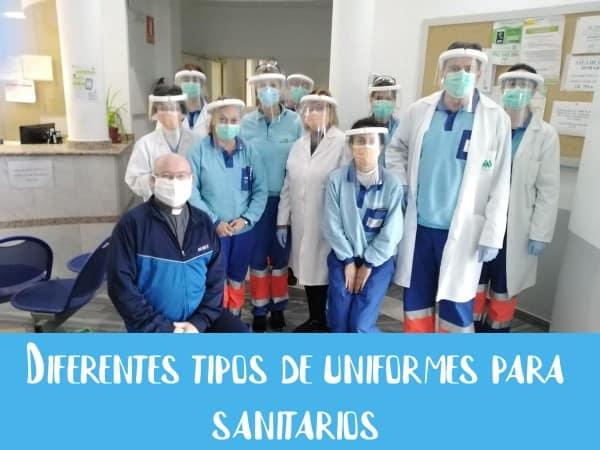 Diferentes tipos de uniformes para sanitarios